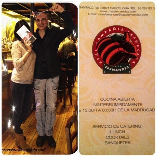 Una comida con Pep Bras, escritor y guionista (El Terrat). Restaurante Casa Fernández, Barcelona.