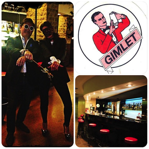 A cocktail with Denis Carre, Gangnam Style, Lookalike of PSY. Coctelería Gimlet, Barcelona.