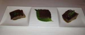 Chef´s Signature Appetiser selection four seasons chef tak