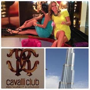 Una cena con Carla de la Vega, periodista y escritora. Burj Khalifa y Cavalli Club, Dubai.