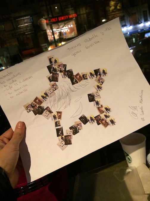 El retrato Una estrella con nuestras fotos por que Domingo es una estrella