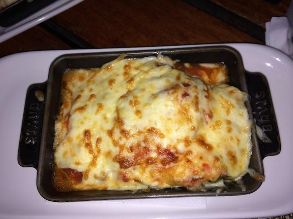Pasticcio de Queso de Cabra Goat Cheese Lasagna w/ Spinach, Tomatoes & Herbs
