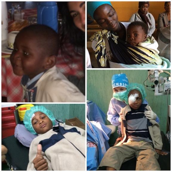 Niños mozambiqueños y Robson, nuestro pequeño paciente de 11 años, un valiente!