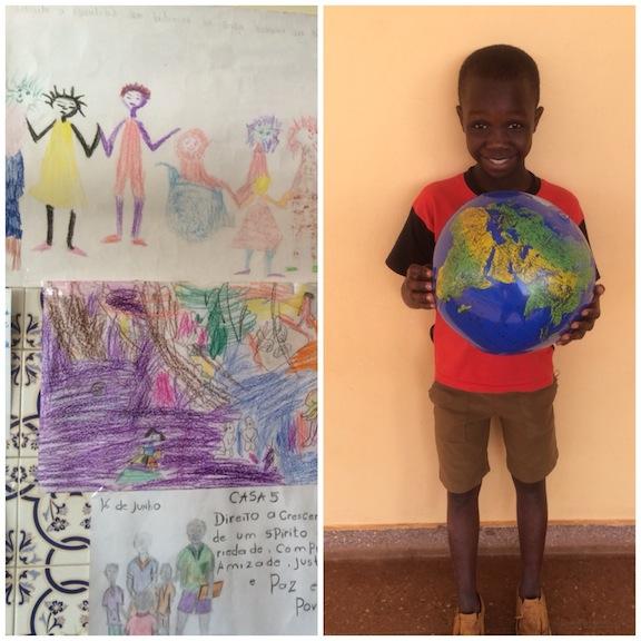 Sus dibujos y su amor por el mundo