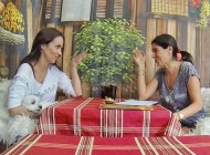 Unas risas con Nerea Garmendia, actriz. Terraza de la Reina, Madrid.