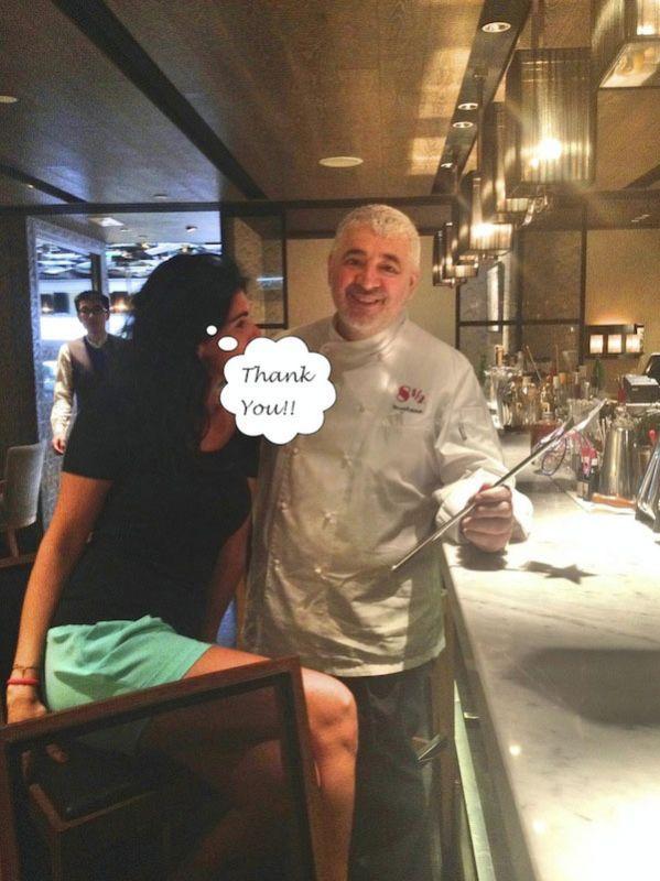 A lunch with Chef Umberto Bombana, Three Michelin Stars. Restaurant 8 1/2 Otto E Mezzo Bombana, Hong Kong.
