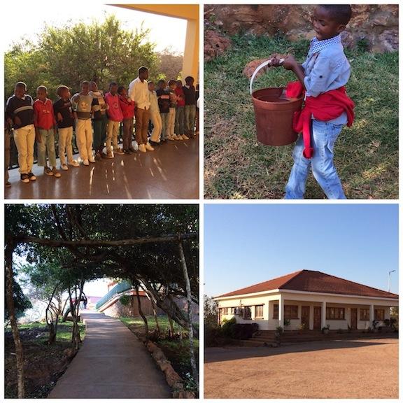 El orfanato y los niños con sus tareas