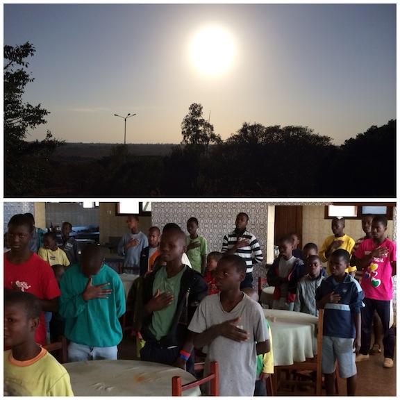 La despedida más emocionante de mi vida! los niños del orfanato se levantaron mano en el corazón y nos dedicaron el himno de Gaiato!. emoción, lágrimas y sentimientos afloraron de mi piel...
